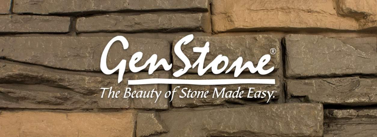 Genstone Logo on faux stone background
