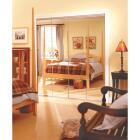 Erias Series 4900 30 In. W. x 80-1/2 In. H. Steel Frameless Mirrored White Bifold Door Image 2