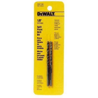 DeWalt 1/8 In. Gold Ferrous Oxide Pilot Point Drill Bit (2-Pack)