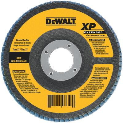DeWalt 4-1/2 In. 36-Grit Type 29 High Performance Zirconia Angle Grinder Flap Disc