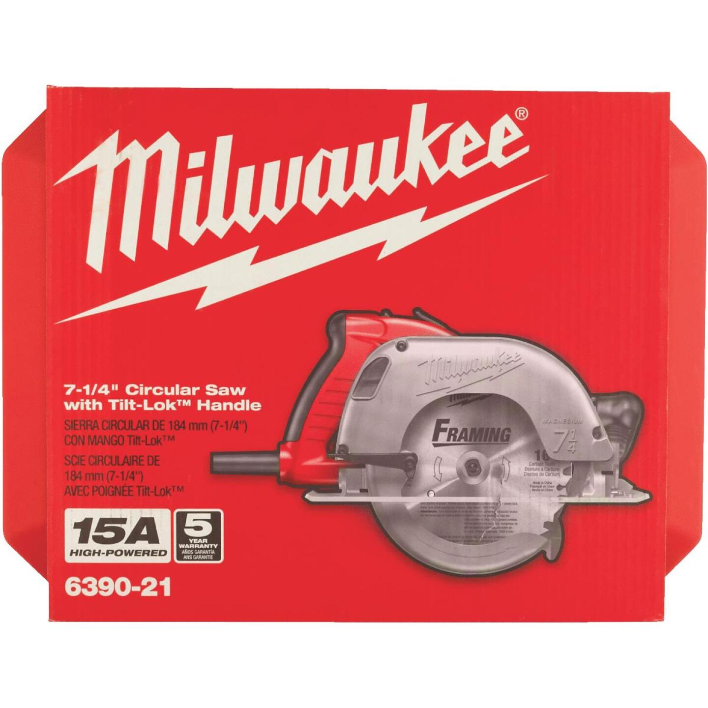 Milwaukee TILT-LOK 7-1/4 In. 15-Amp Circular Saw Image 3