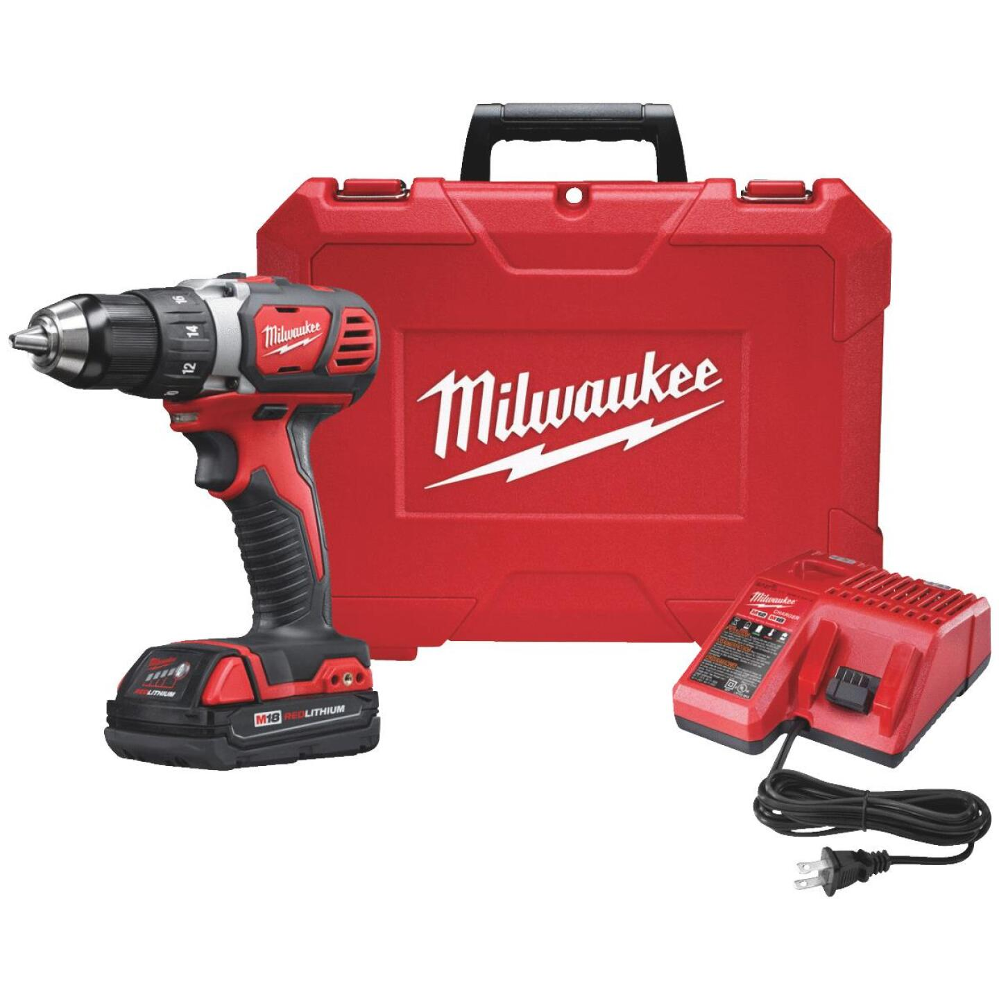 Milwaukee M18 18 Volt Lithium-Ion 1/2 In. Compact Cordless Drill Kit Image 1