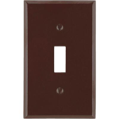 Leviton 1-Gang Plastic Toggle Switch Wall Plate, Brown