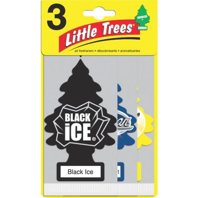 Little Trees Car Air Freshener, Vanillaroma, Black Ice, & New Car Scent (3-Pack)