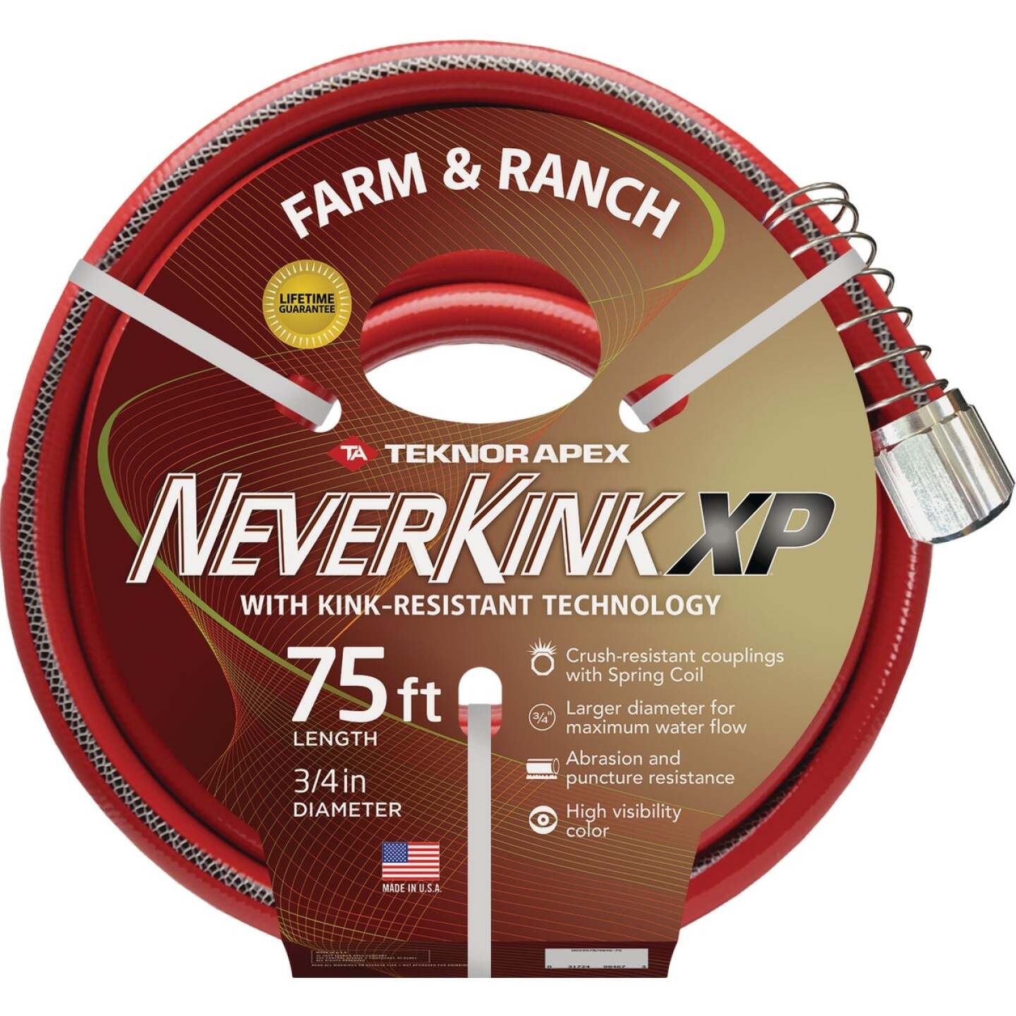 "NeverKink XP 3/4"" x 75' Farm & Ranch Hose Image 1"