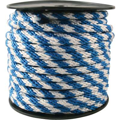 Do it 5/8 In. x 150 Ft. Blue & White Derby Polypropylene Rope