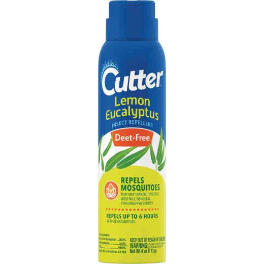 Cutter Lemon Eucalyptus 4 Oz. Insect Repellent Aerosol Spray
