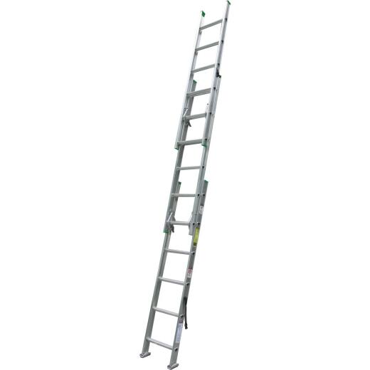 Werner 16 Ft. Compact Aluminum Extension Ladder with 225 Lb. Load Capacity Type II Duty Rating