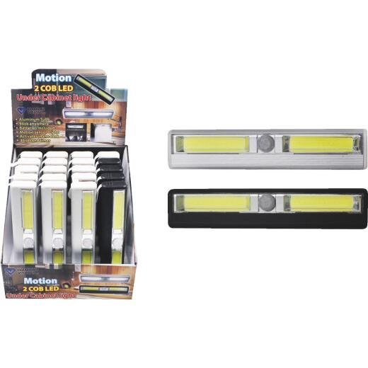 Diamond Visions 6-1/4 In. Battery Operated Motion Activated COB LED Under Cabinet Battery Operated Light